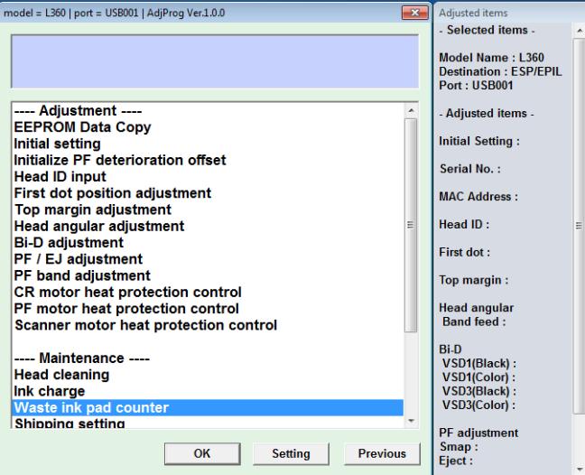 Adjustment Program Resetter Epson L120